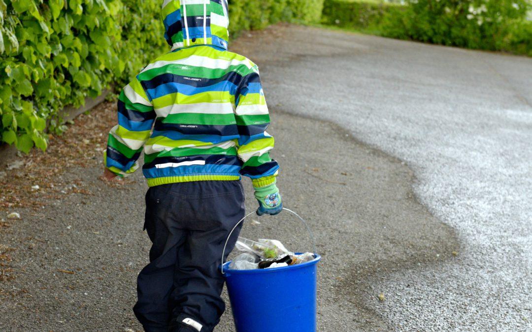 Müllsammeln vor Ort