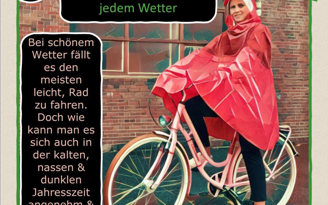 16. Türchen:  Umweltfreundlich mobil – Radfahren bei jedem Wetter